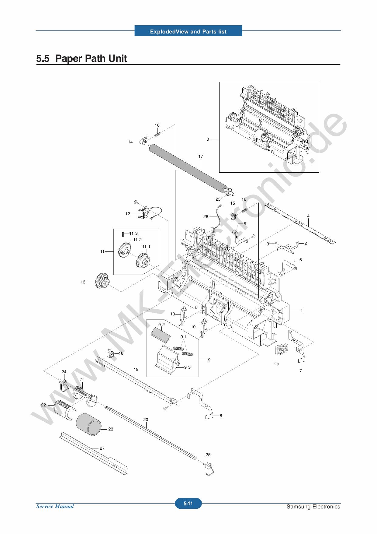 Samsung ml-1640 1645 2240 service manual download, schematics.